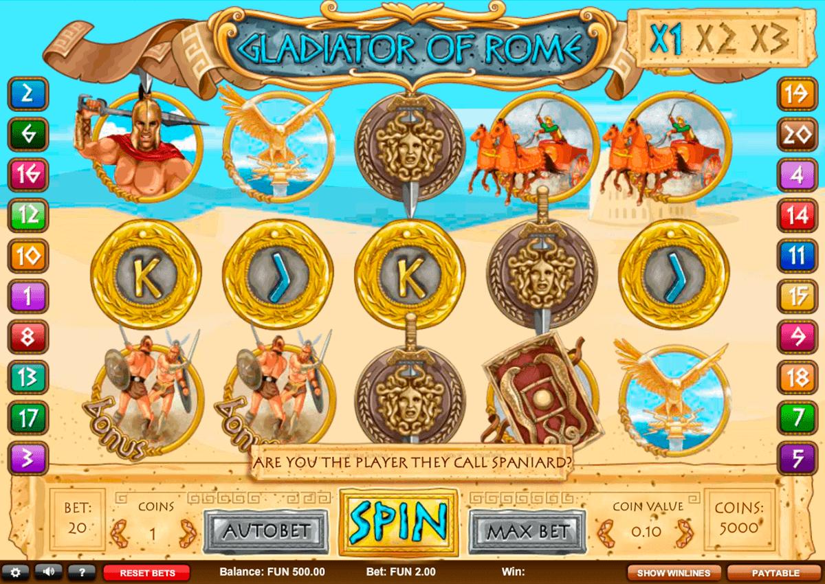 Gladiator Jackpot Game kostenlos mit Bonus spielen