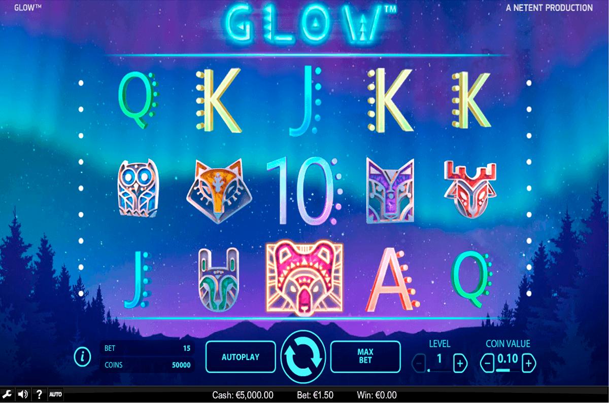 glow netent spielautomaten