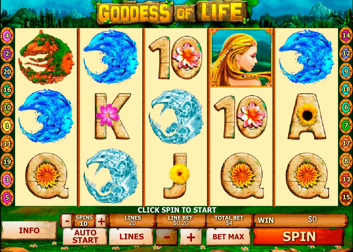 goddess of life playtech spielautomaten