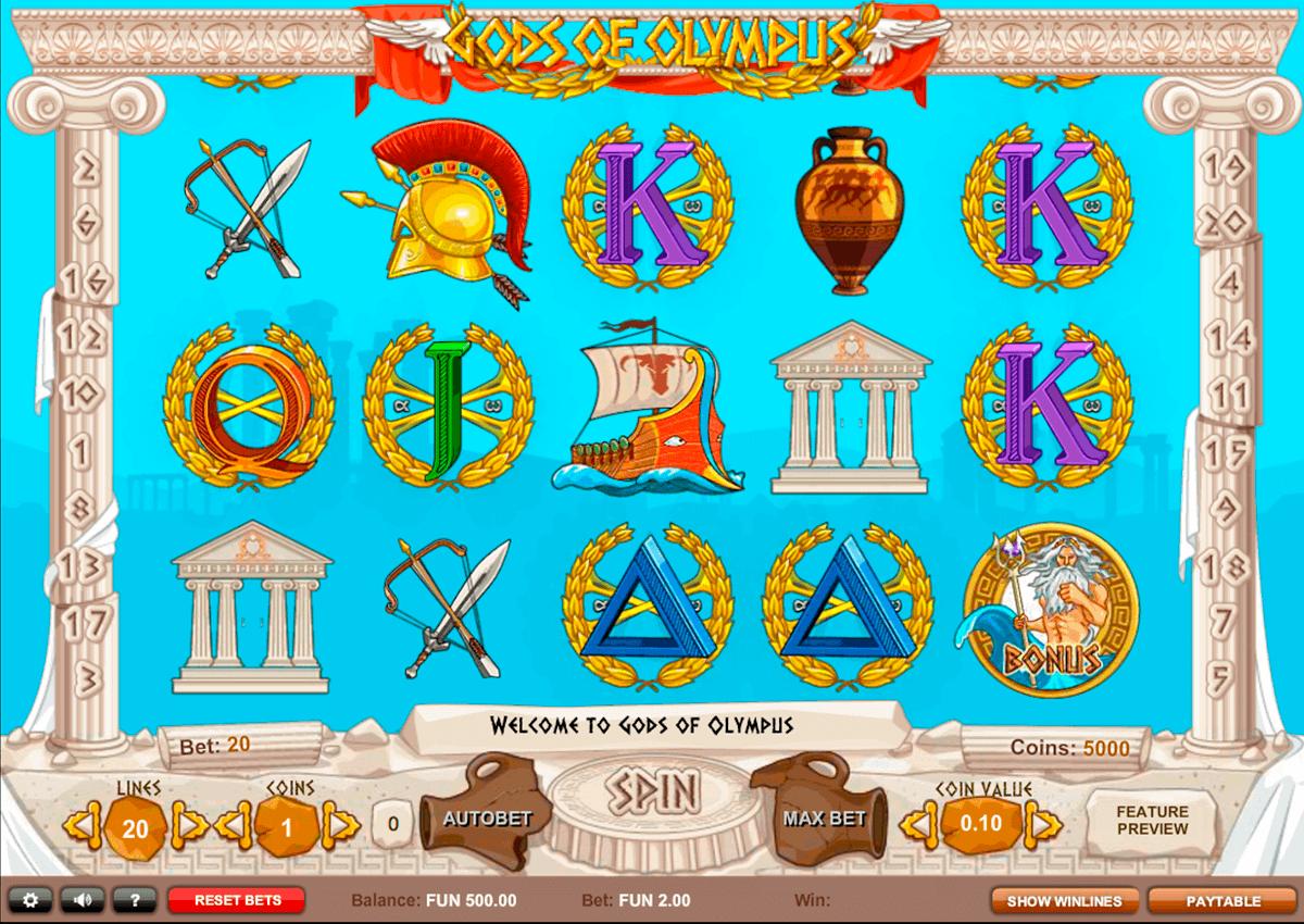 gods of olympus 1x2gaming spielautomaten