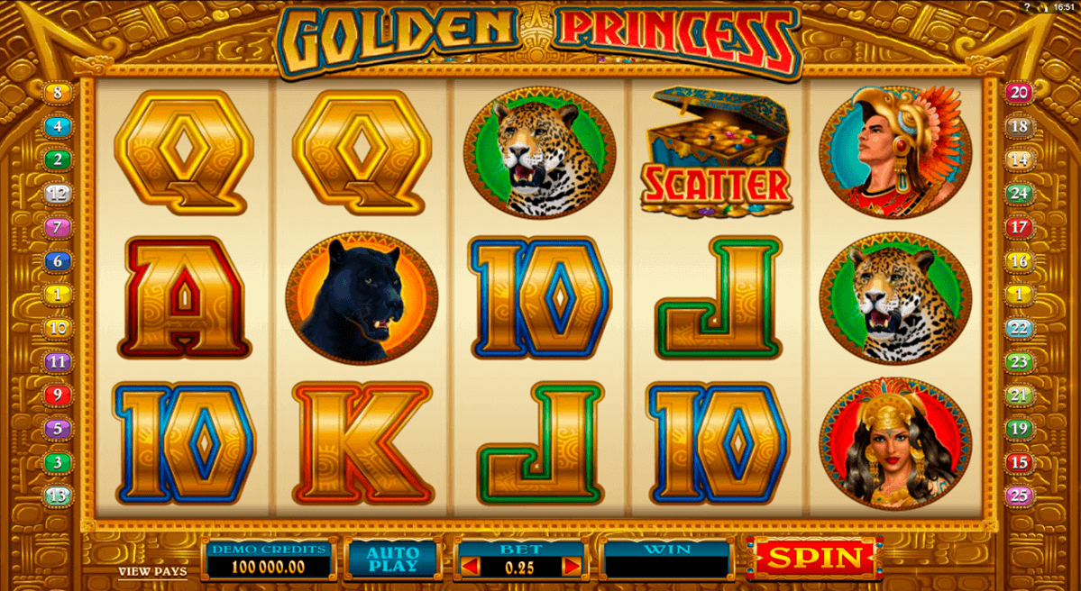 golden princess microgaming spielautomaten