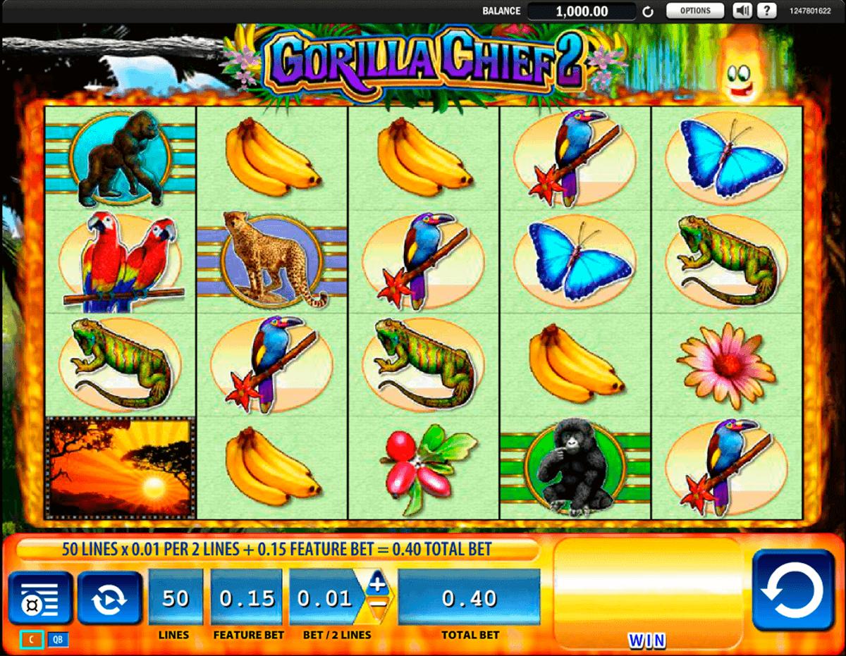 gorilla chief 2 wms spielautomaten