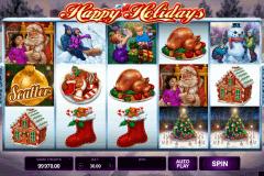happy holidays microgaming spielautomaten