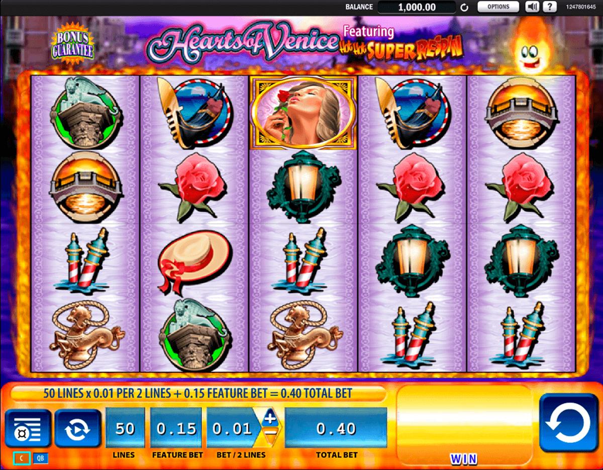 hearts of venice wms spielautomaten