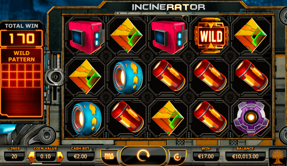 incinerator yggdrasil spielautomaten