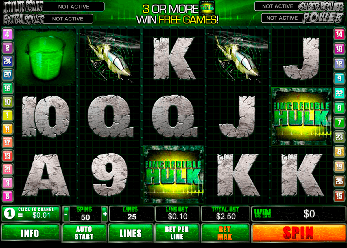 incredible hulk playtech spielautomaten