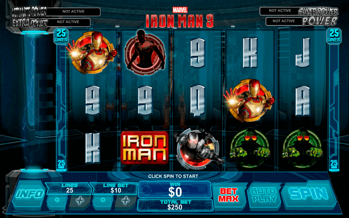 iron man  playtech spielautomaten