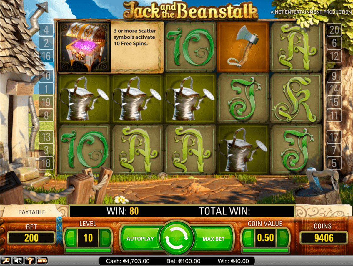jack and the beanstalk netent spielautomaten