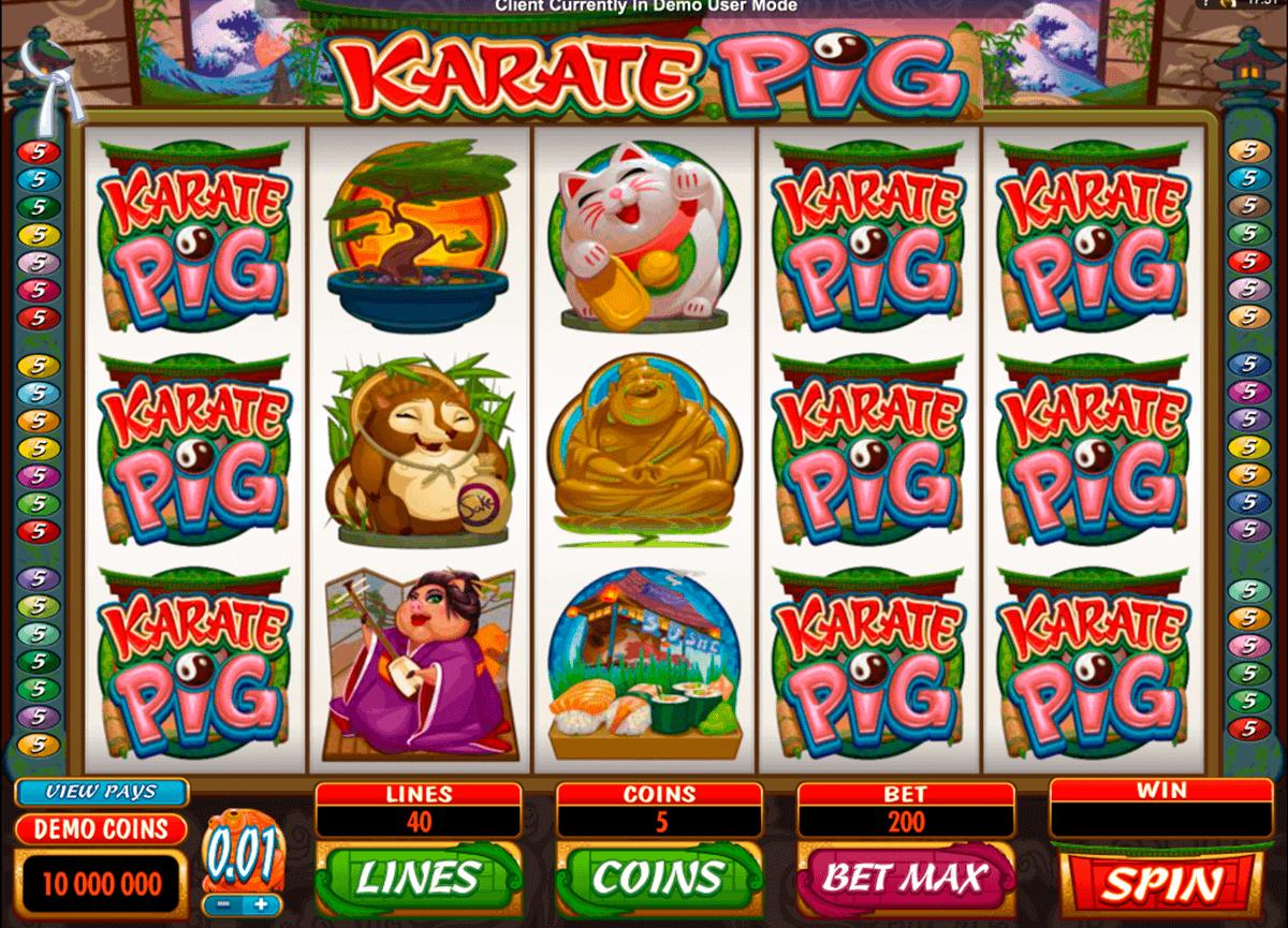 karate pig microgaming spielautomaten