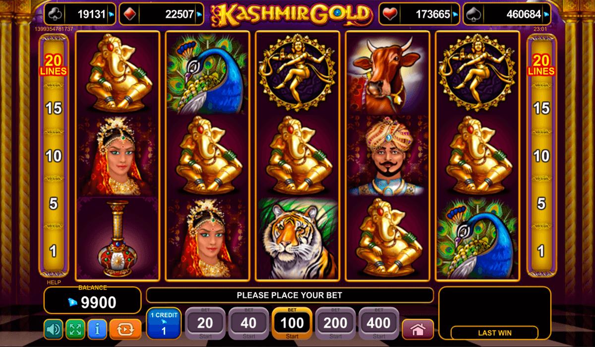 Kashmir Gold Slots - Spielen Sie das EGT Casino-Spiel online