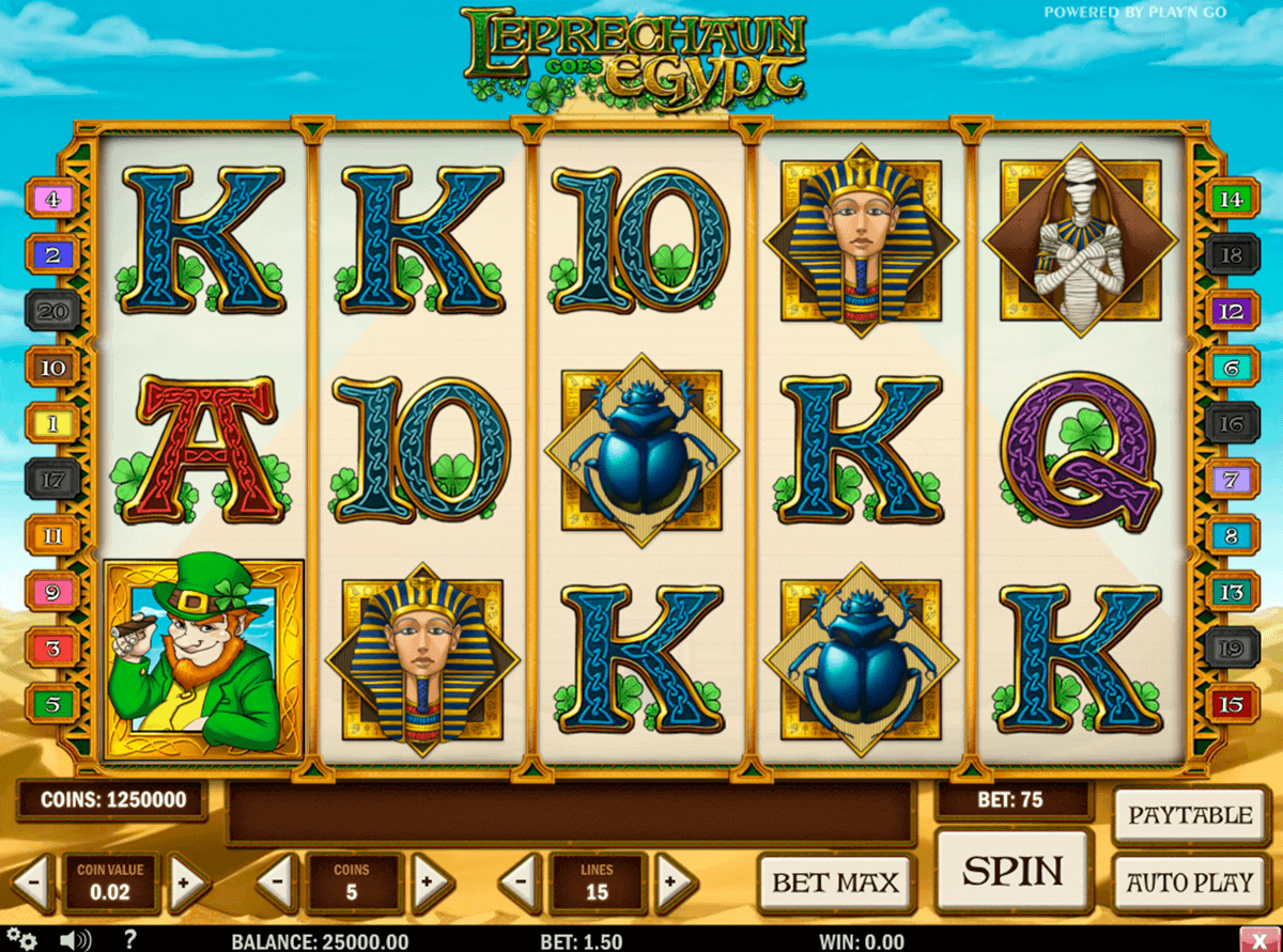 leprechaun goes egypt playn go spielautomaten