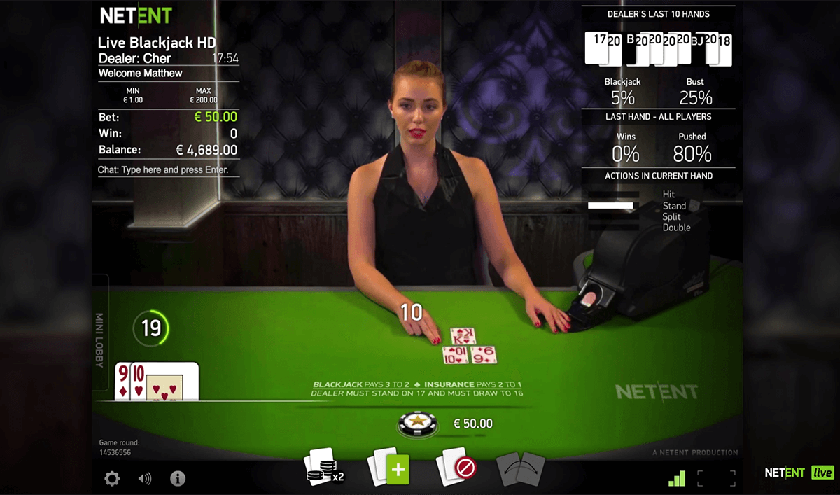 live common draw blackjack netent