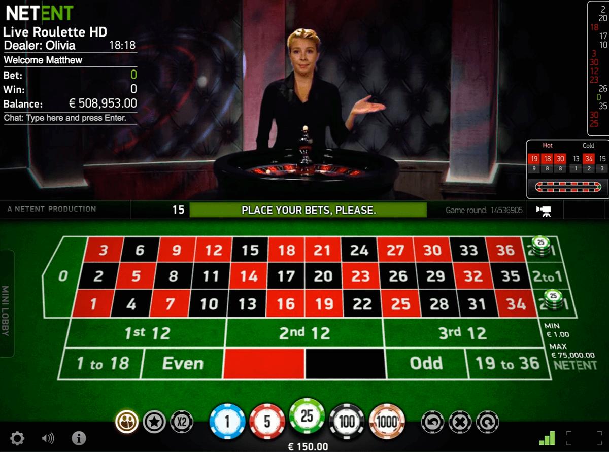 live roulette netent roulette