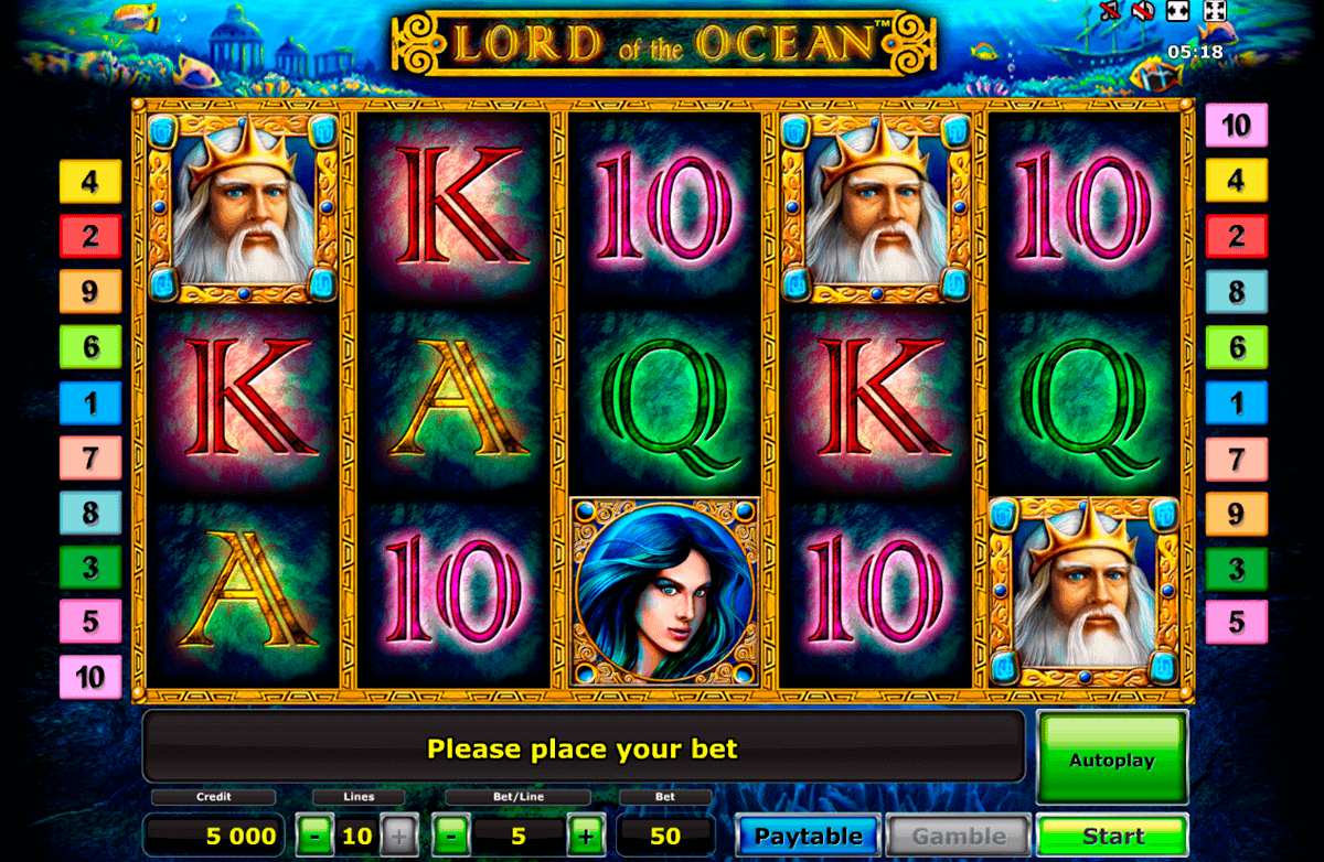 lord of the ocean novomatic spielautomaten