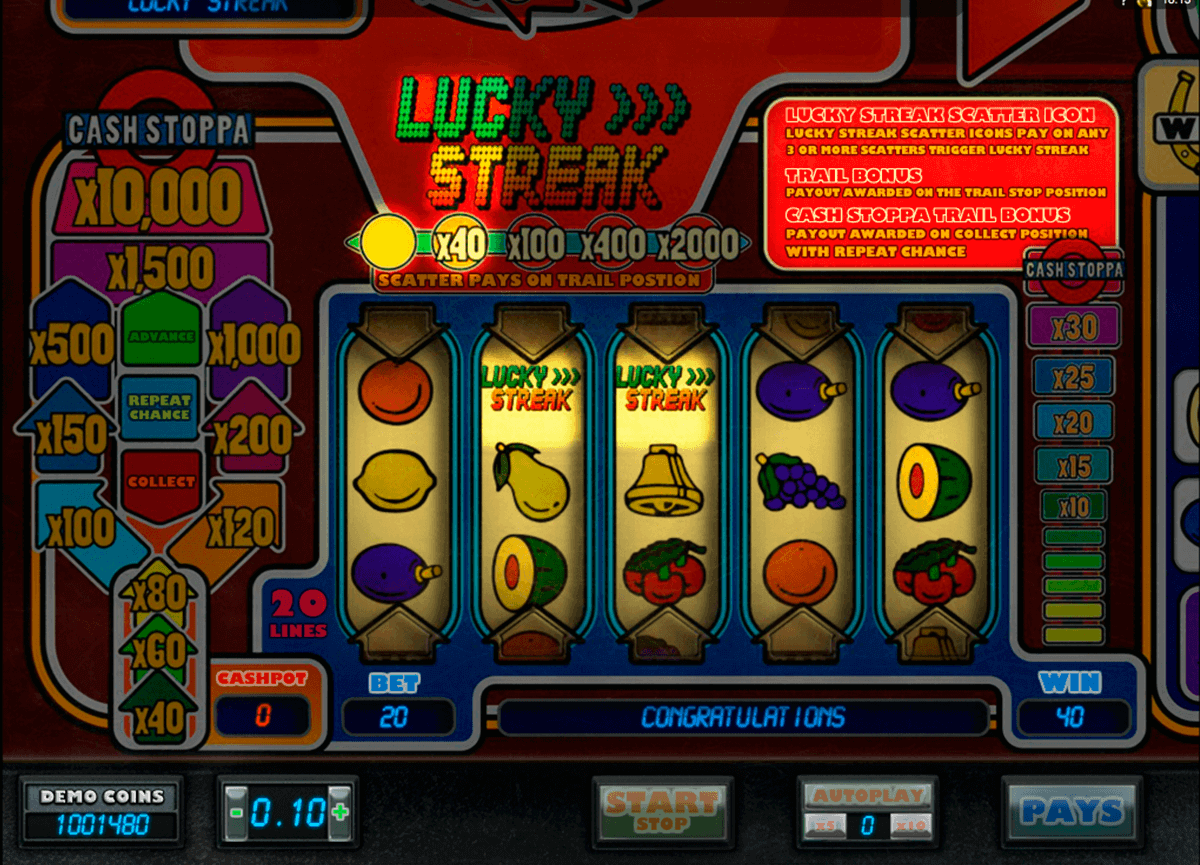 lucky streak microgaming spielautomaten