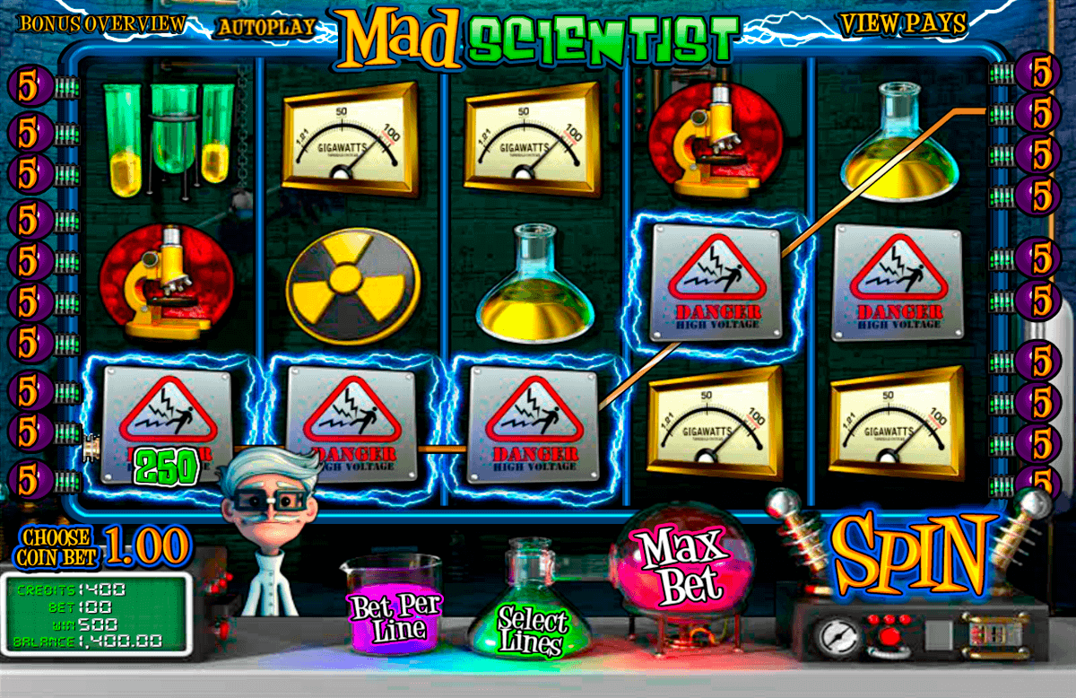 mad scientist betsoft spielautomaten