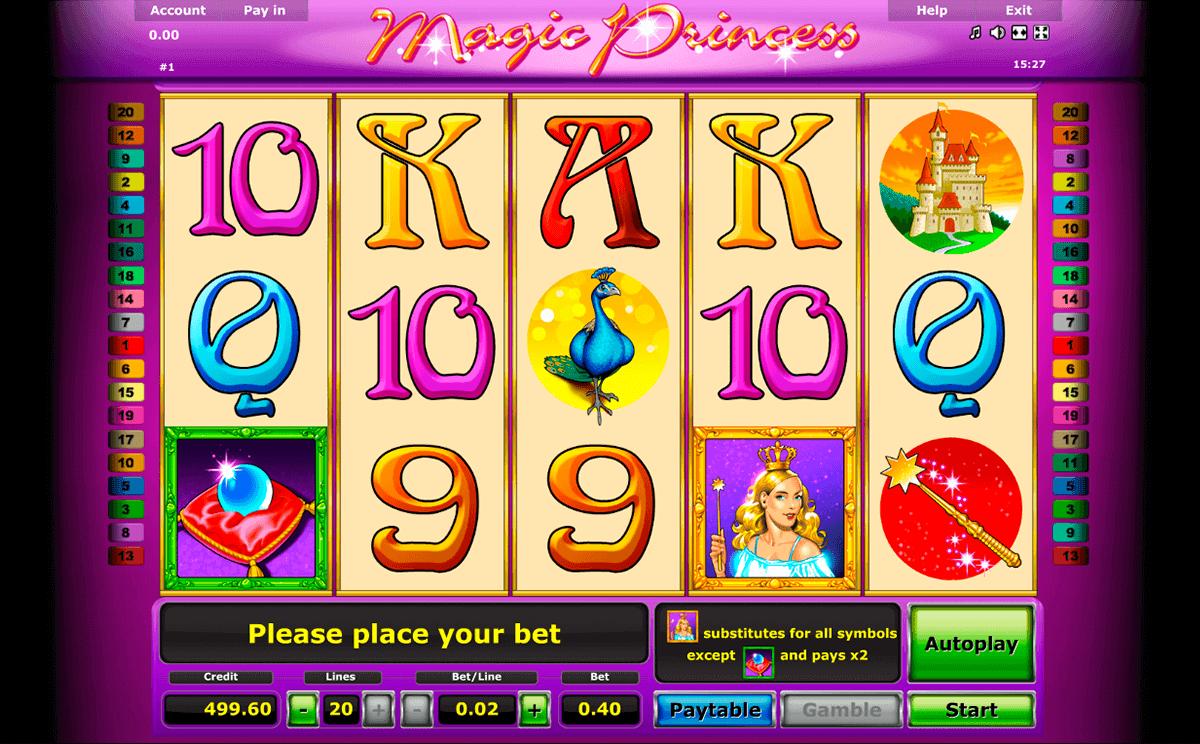magic princess novomatic spielautomaten
