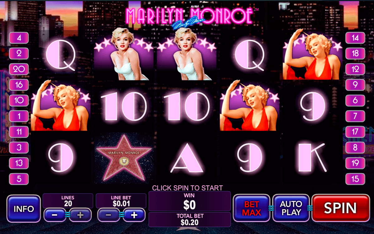 Play Marilyn Monroe Online Pokies at Casino.com Australia
