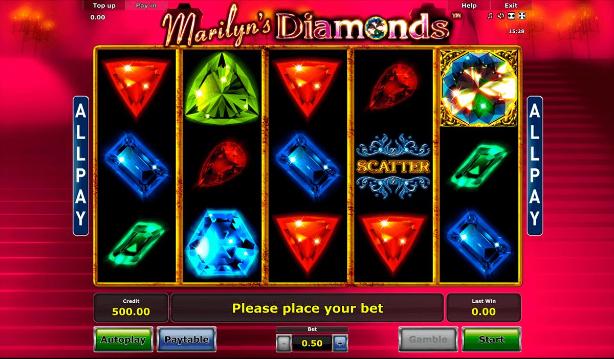 marilyns diamonds novomatic spielautomaten
