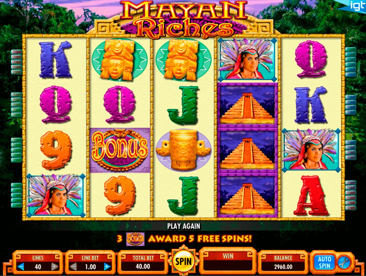 mayan riches igt spielautomaten