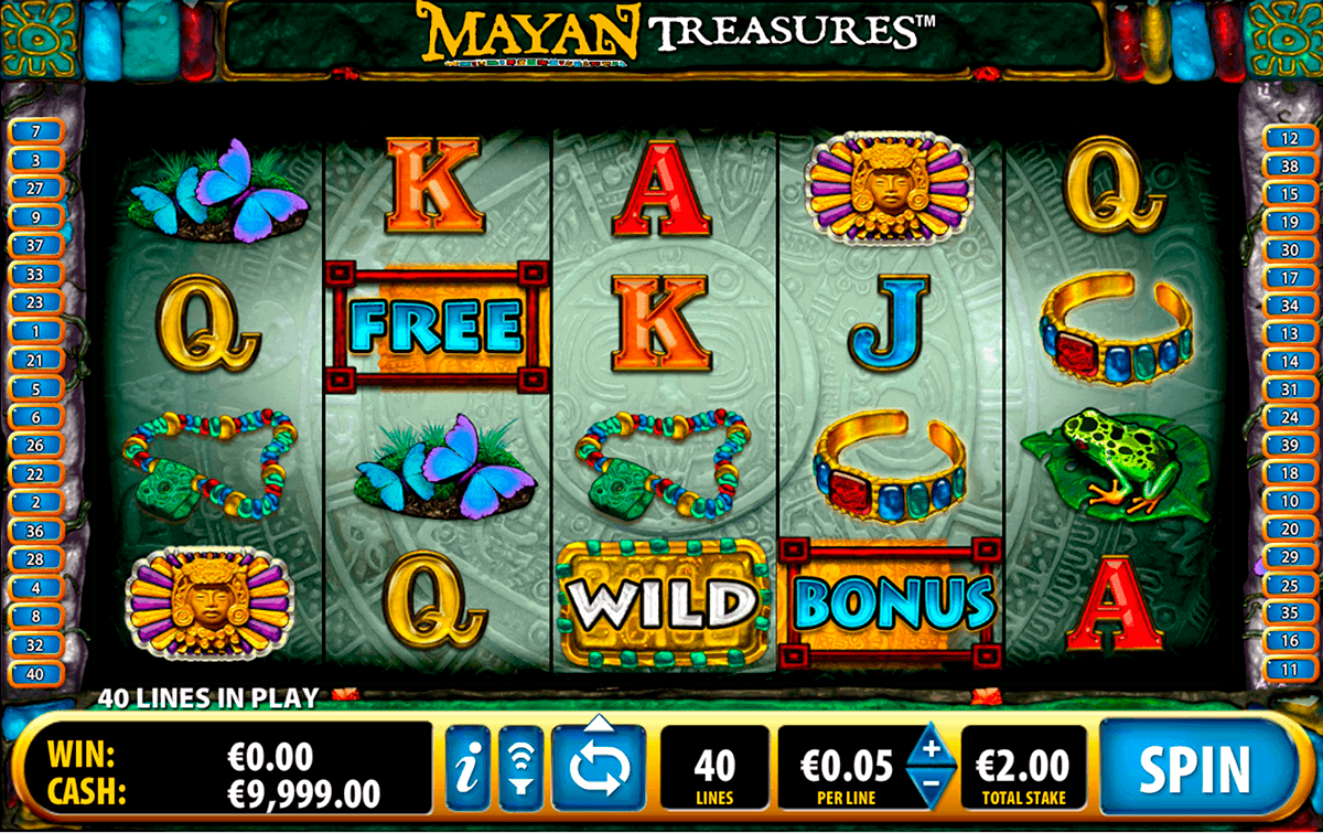 mayan treasures bally spielautomaten