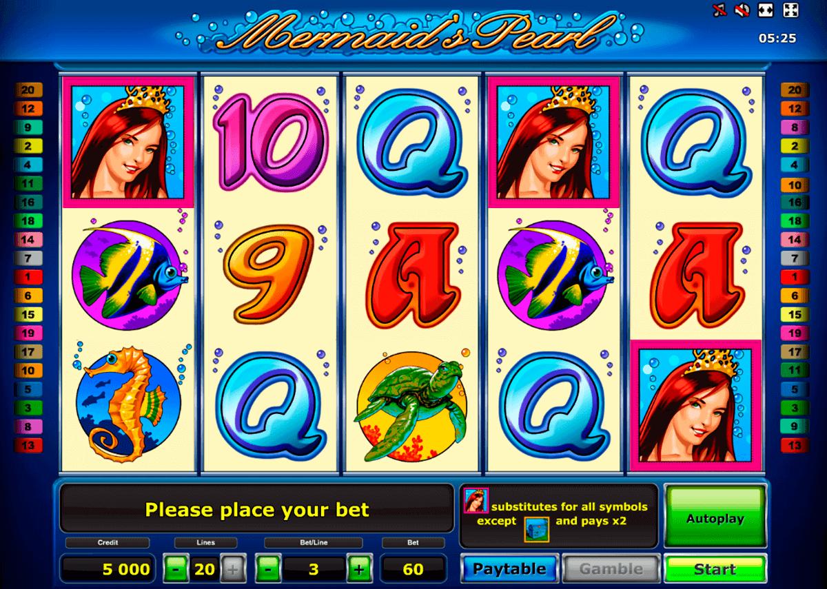 mermaids pearl delue novomatic spielautomaten