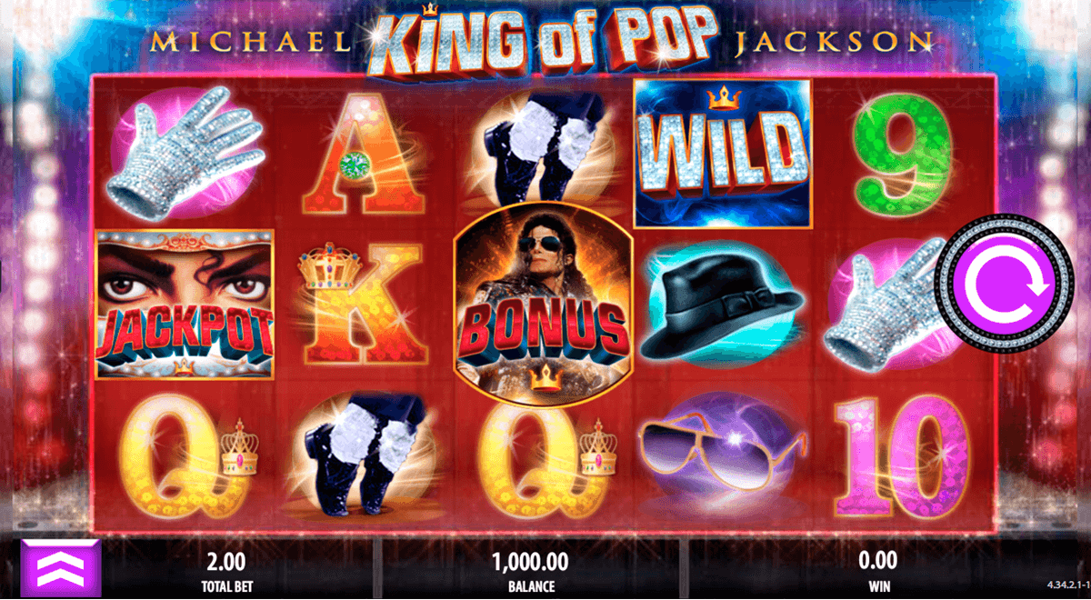 michael jackson king of pop bally spielautomaten