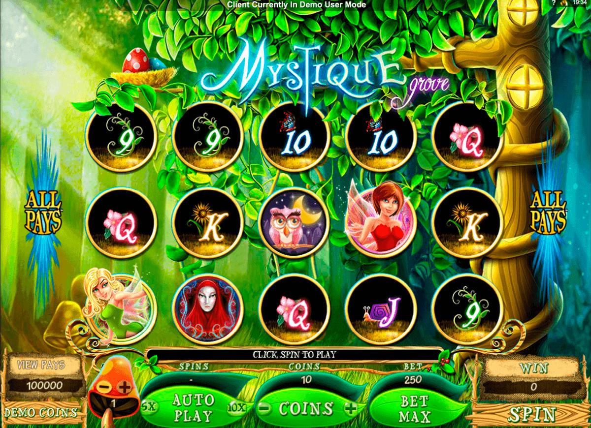 mystique grove microgaming spielautomaten