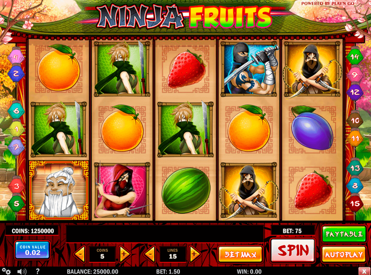 ninja fruits playn go spielautomaten