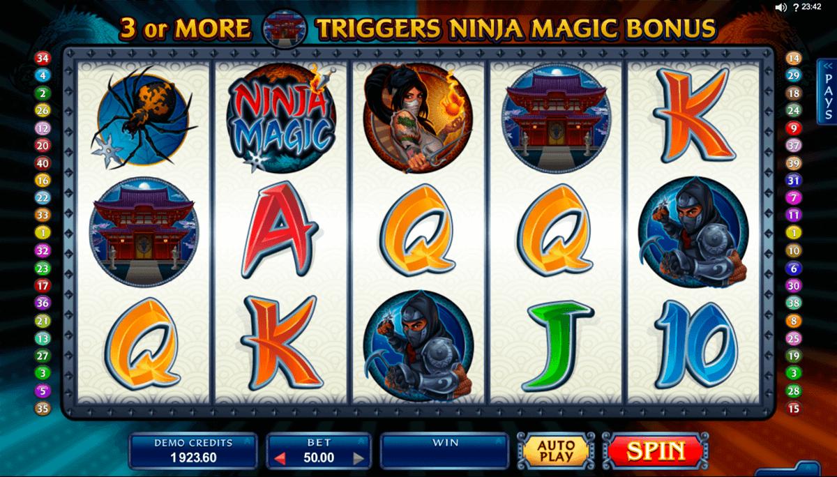 ninja magic microgaming spielautomaten