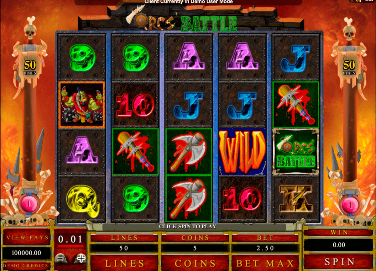 orcs battle microgaming spielautomaten