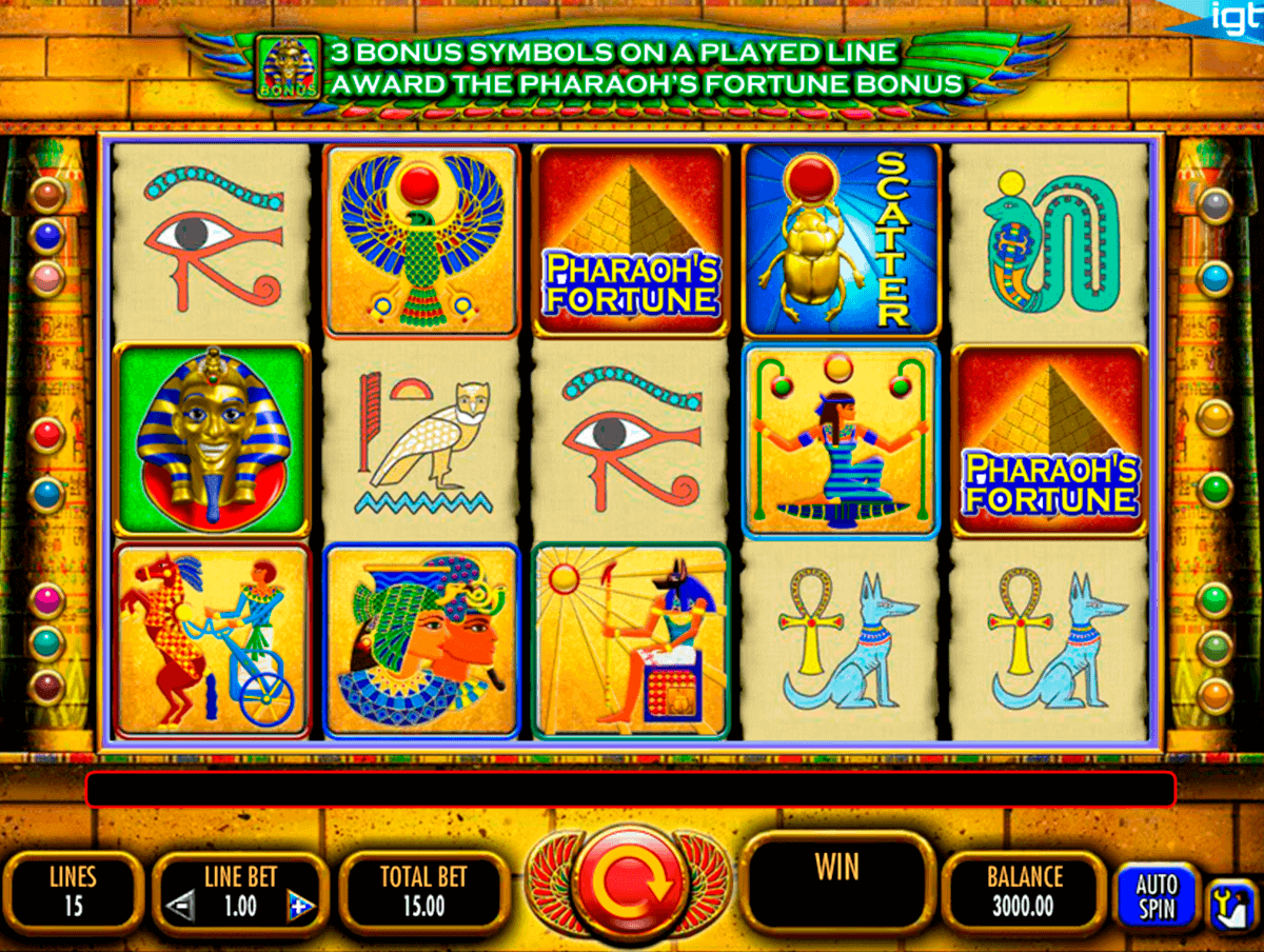 pharaohs fortune igt spielautomaten