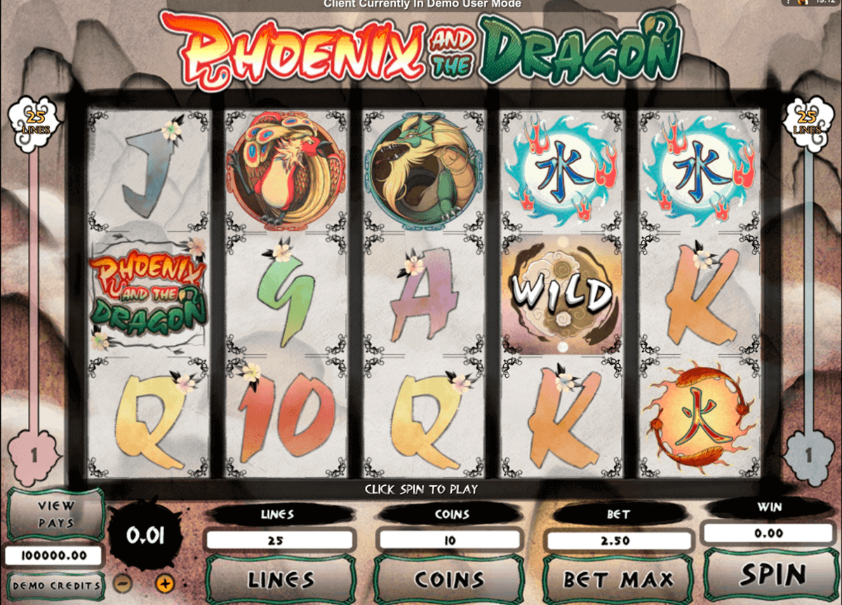 phoenix and the dragon microgaming spielautomaten