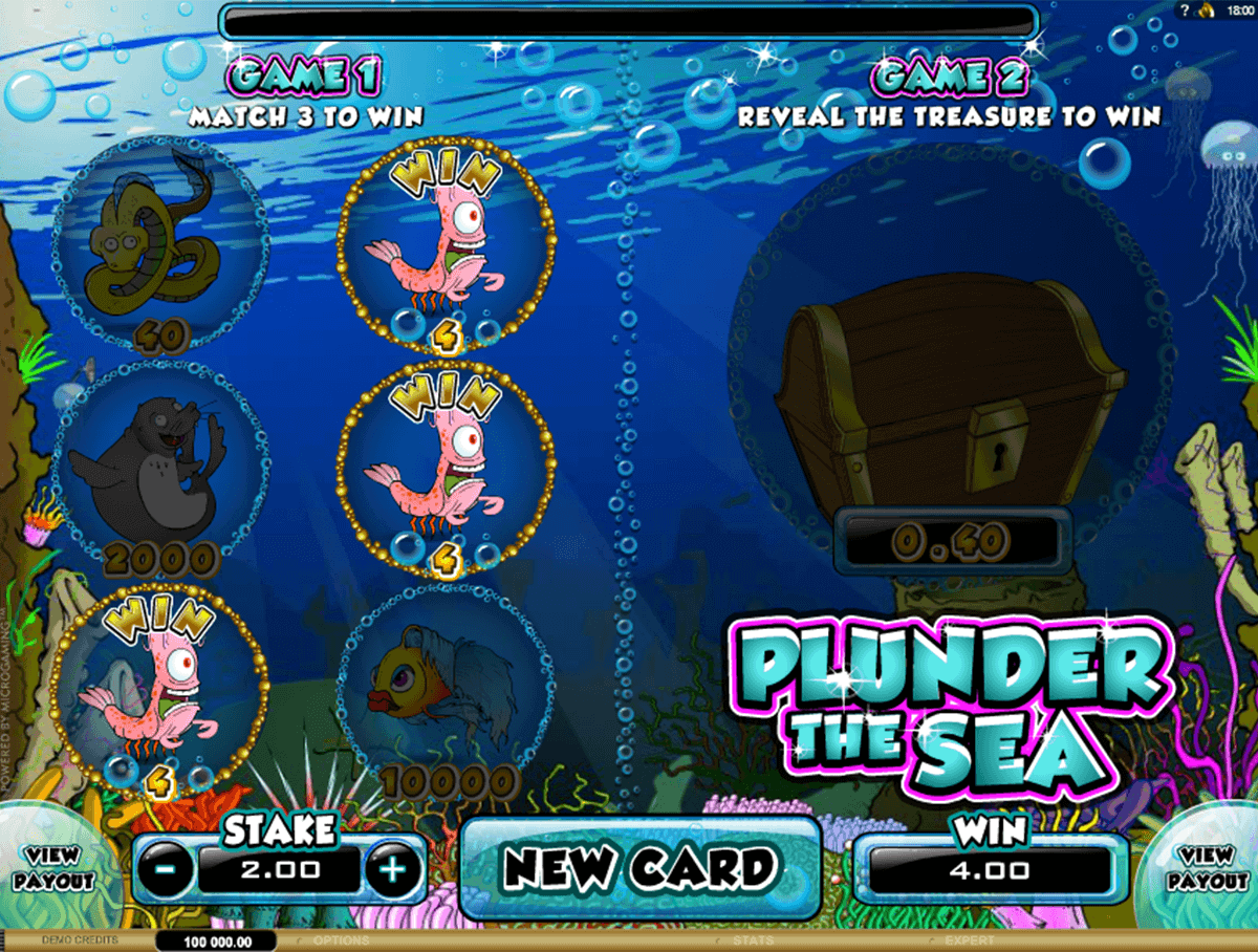 plunder the sea microgaming rubbellose
