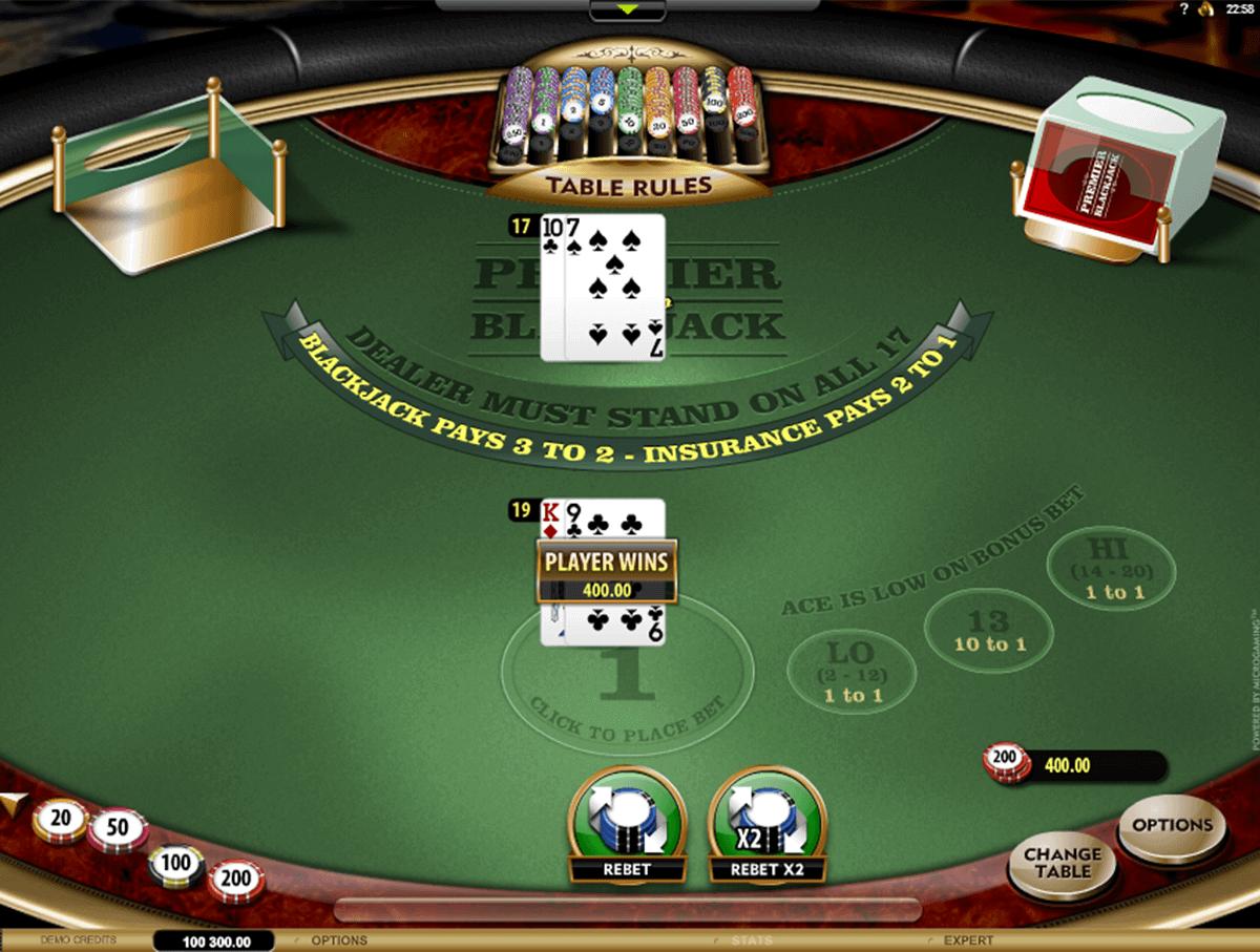 premier blackjack hi lo gold microgaming blackjack