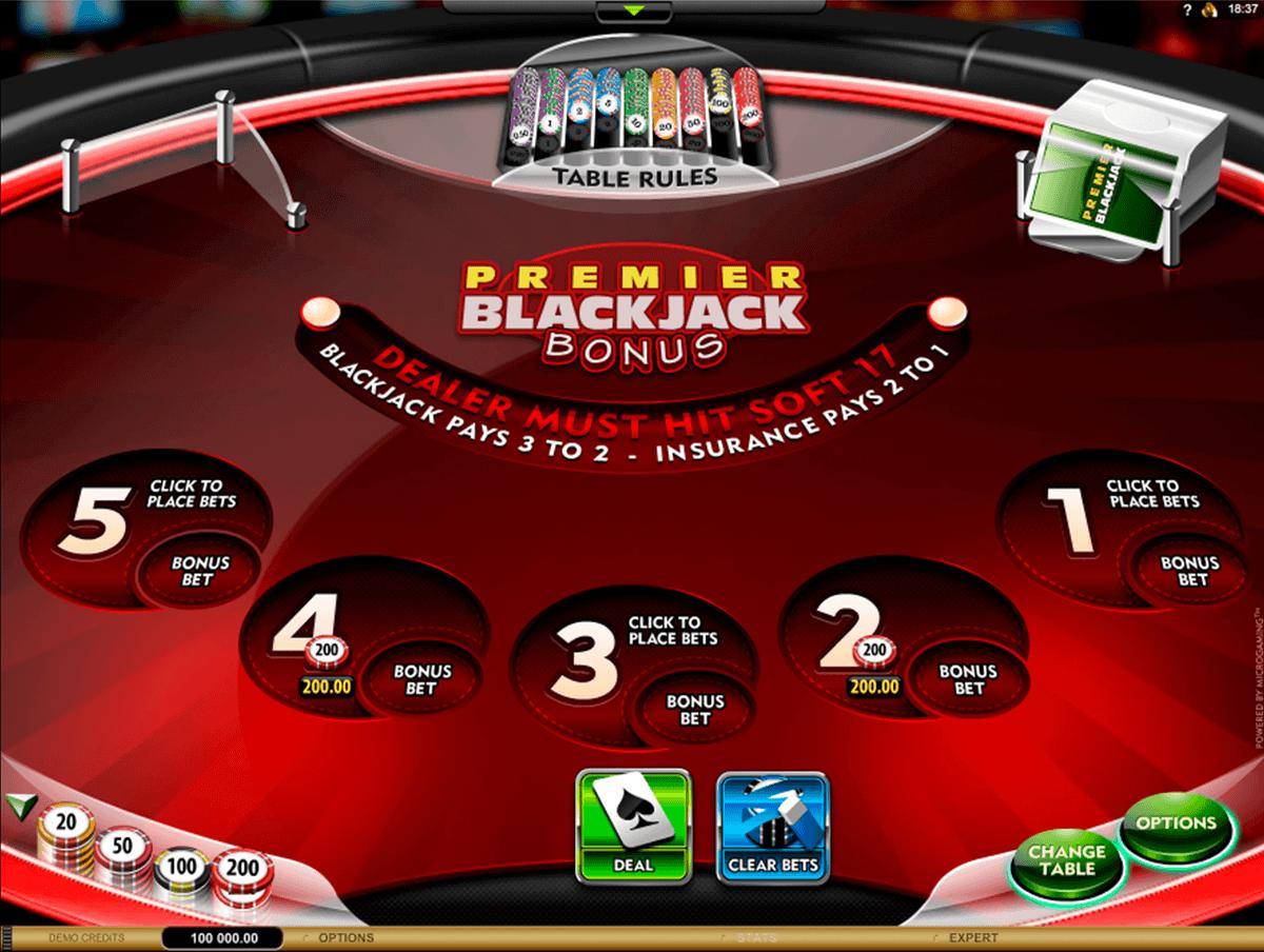 Premier Blackjack Multi-Hand Euro Bonus Gold - Spiele Black Jack