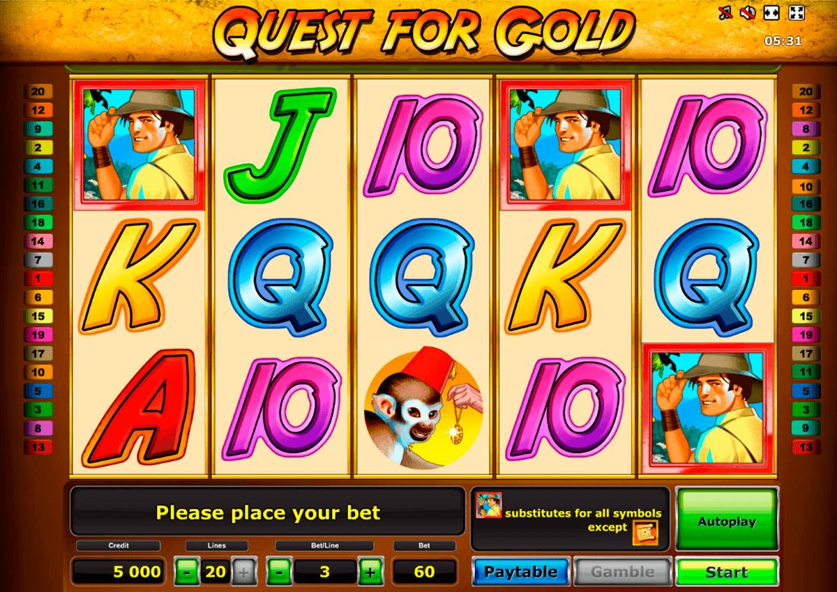 quest for gold novomatic spielautomaten