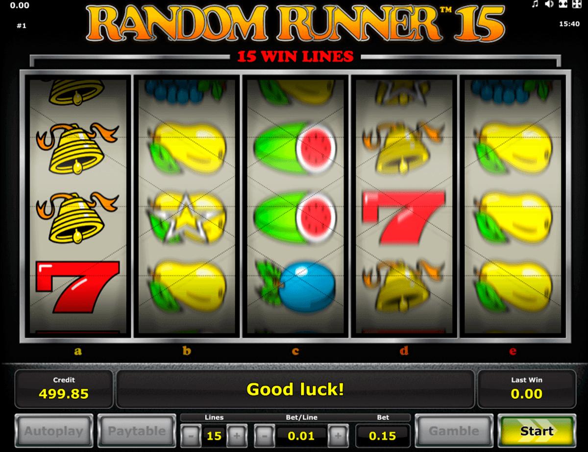 random runner 15 novomatic spielautomaten