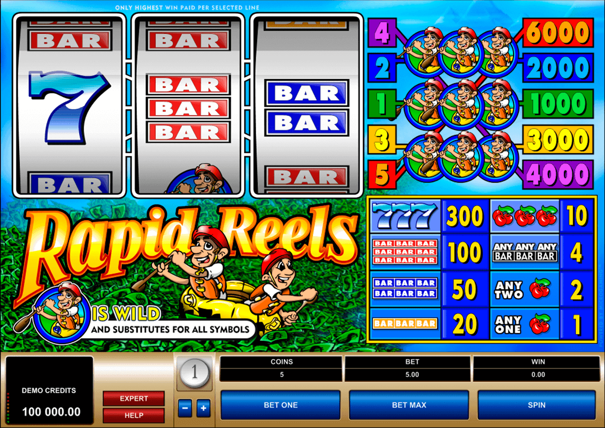 rapid reels microgaming spielautomaten