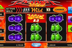 red hot wild barcrest spielautomaten