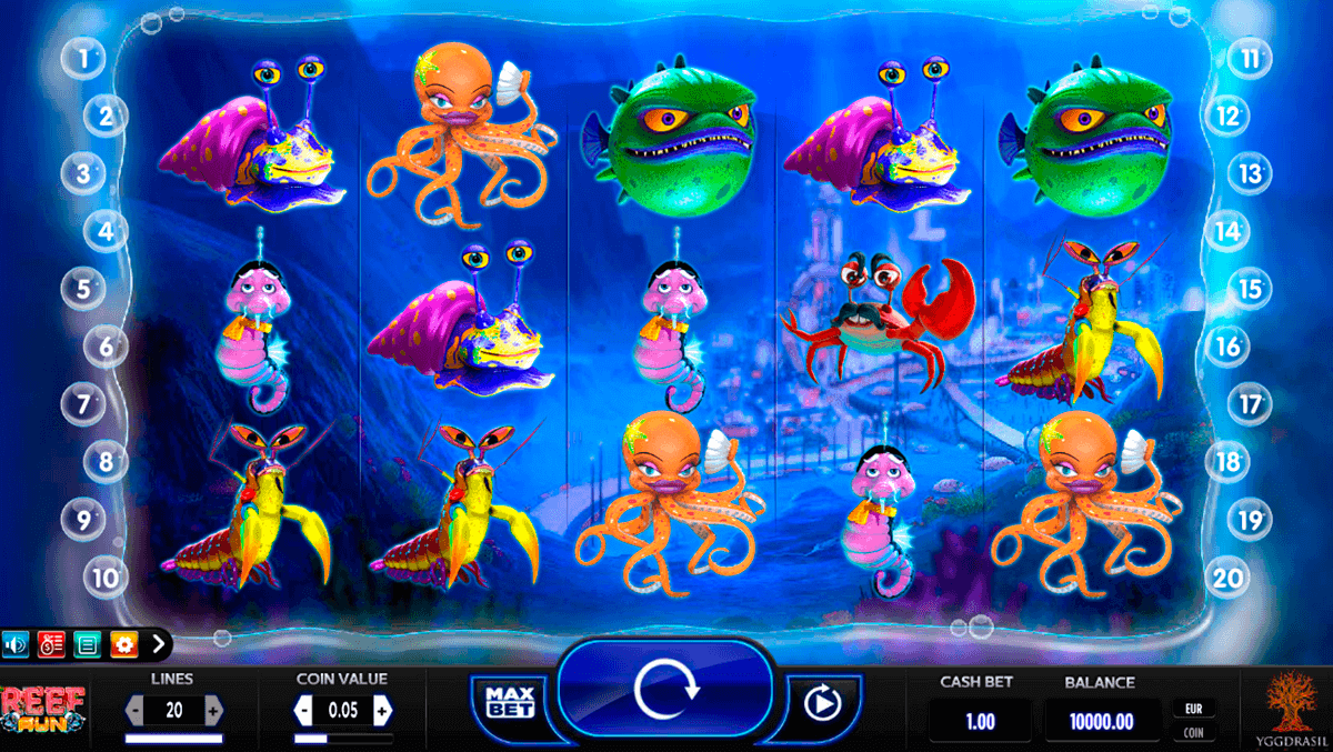 reef run yggdrasil spielautomaten