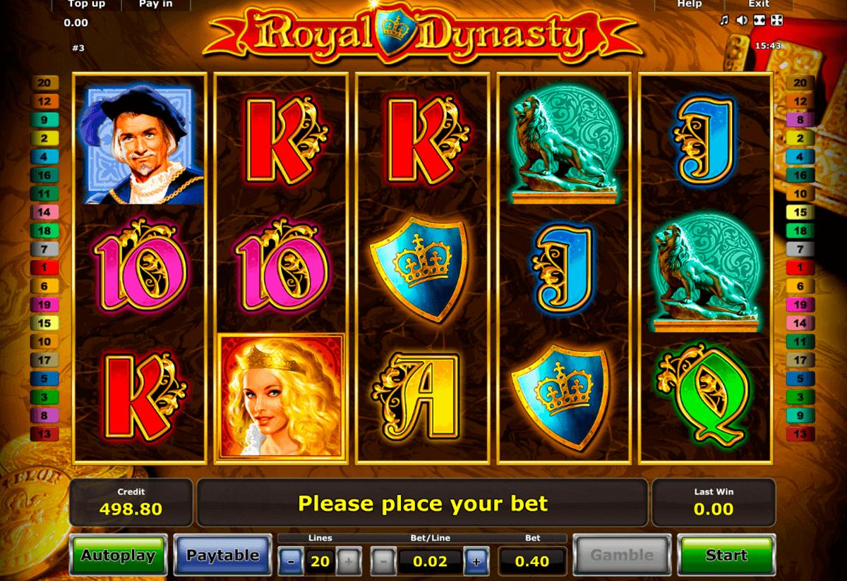 royal dynasty novomatic spielautomaten