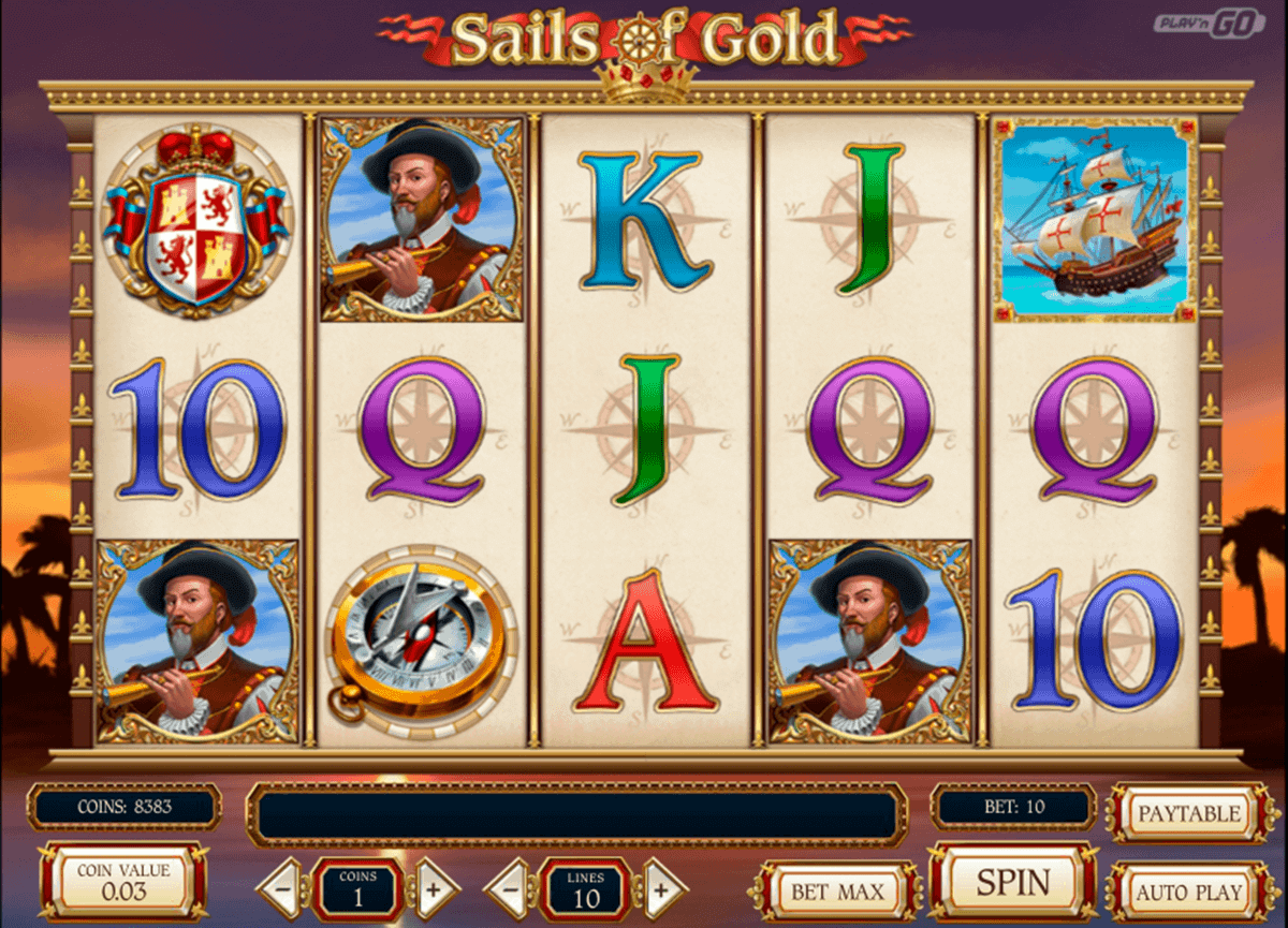 sails of gold playn go spielautomaten