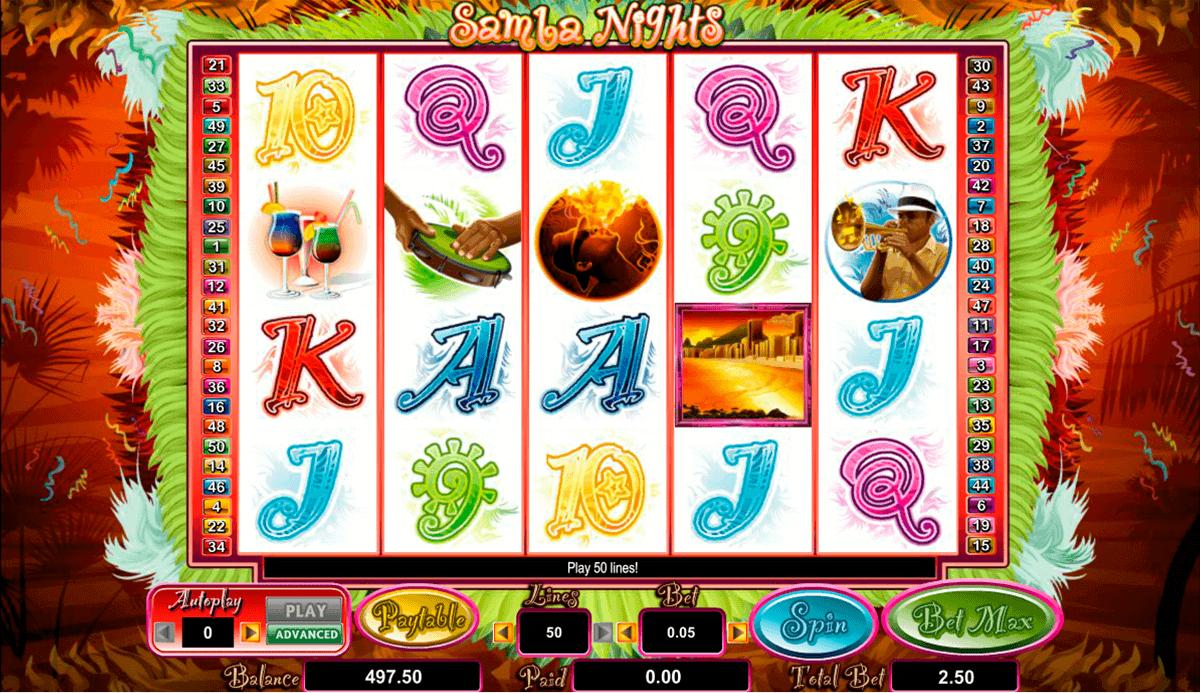 samba nights amaya spielautomaten
