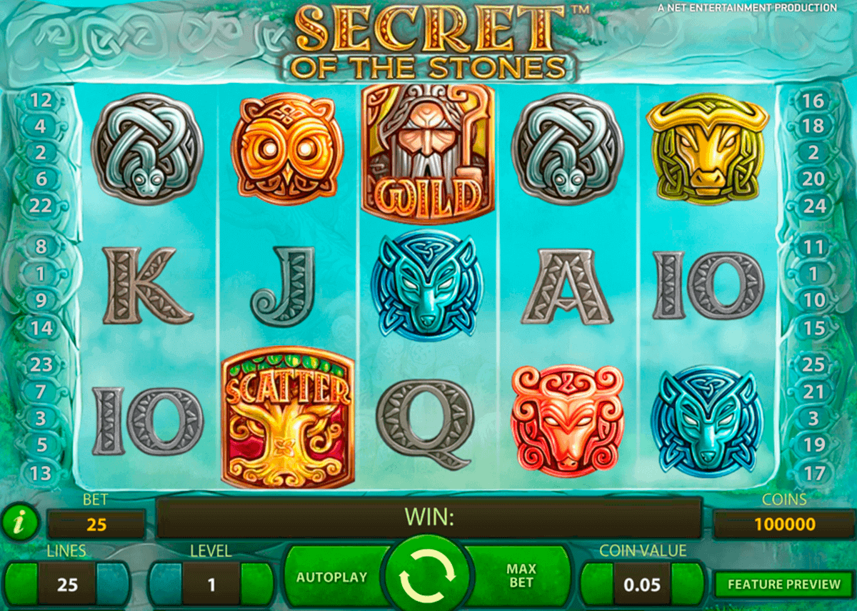 secret of the stones netent spielautomaten