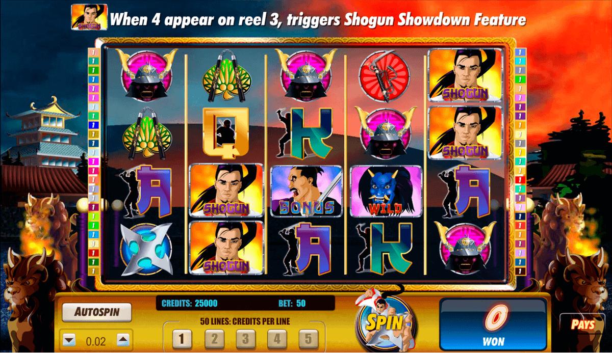 shogun showdown amaya spielautomaten