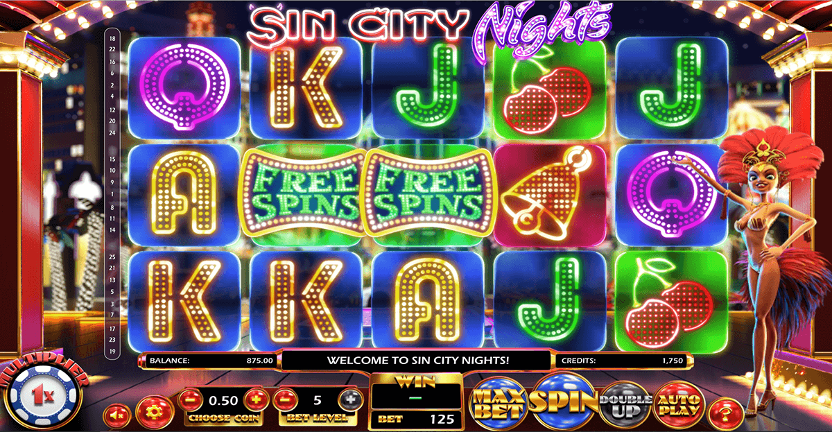 sin city nights betsoft spielautomaten