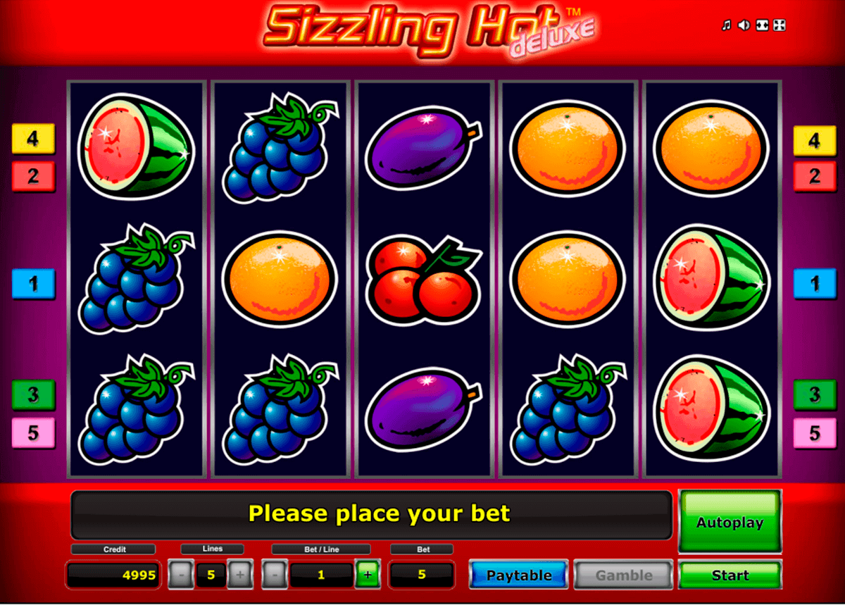 sizzling hot delue novomatic spielautomaten