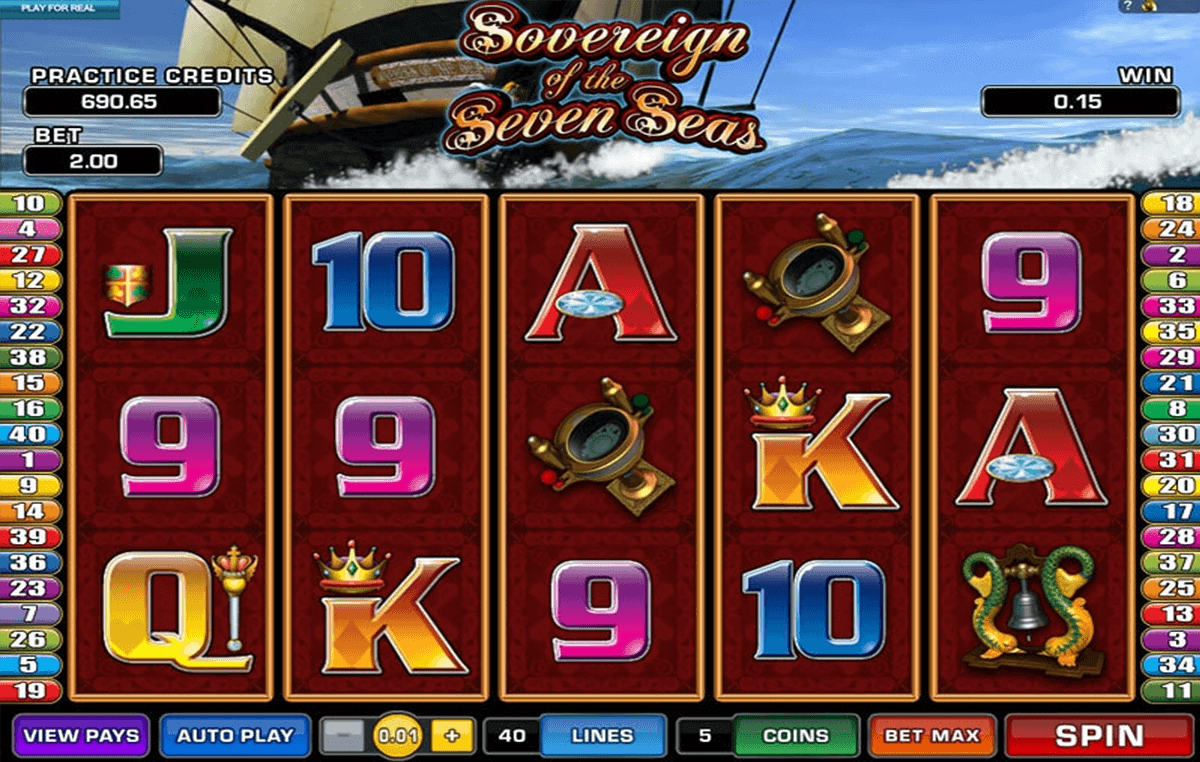 sovereign of the seven seas microgaming spielautomaten