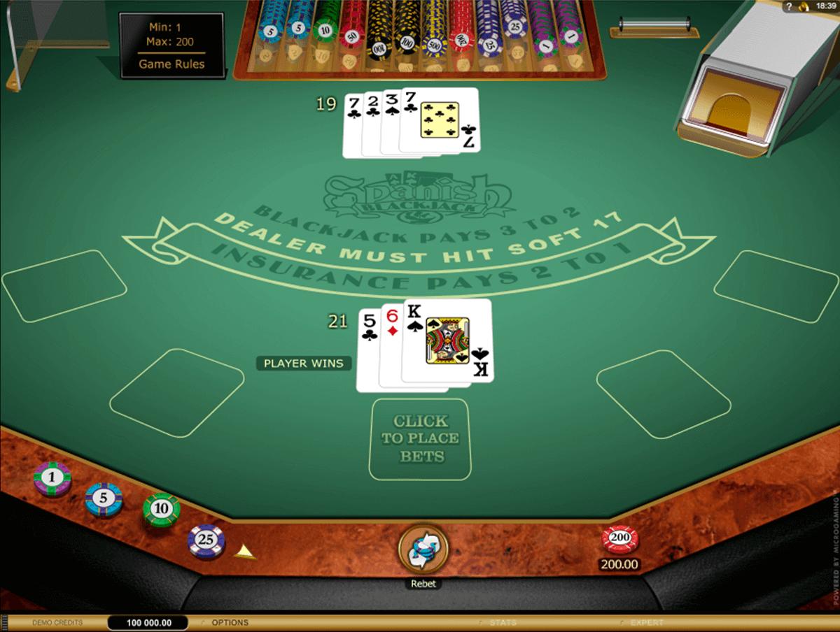 spanish blackjack gold series microgaming blackjack